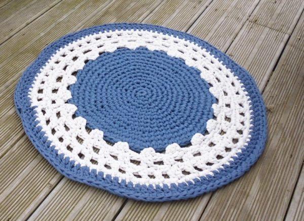 Tapis coton rond